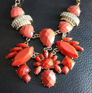 Custom coral statment necklace.